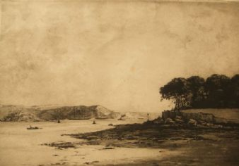 Charles H. Baskett;  'Cremyll Point, Plymouth, Cornwall'